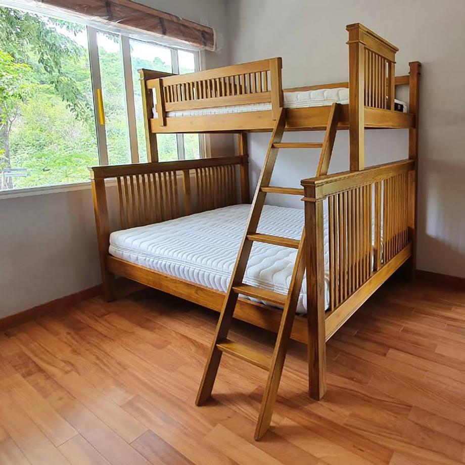 เตียง2ชั้นแบบด้านล่าง5ฟุต