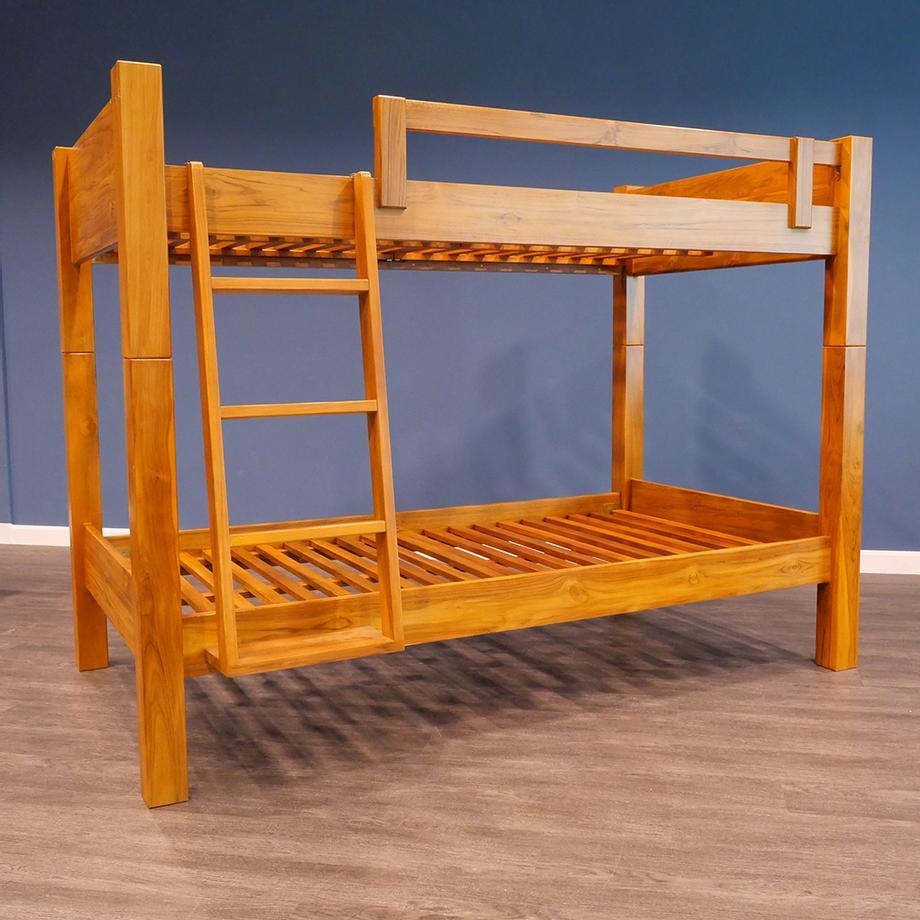 เตียง2ชั้น ไม้สักแท้
