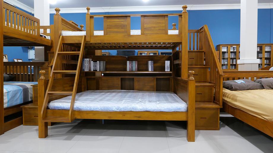 เตียง2ชั้น ด้านล่าง 5ฟุต ด้านบน 3.5ฟุต