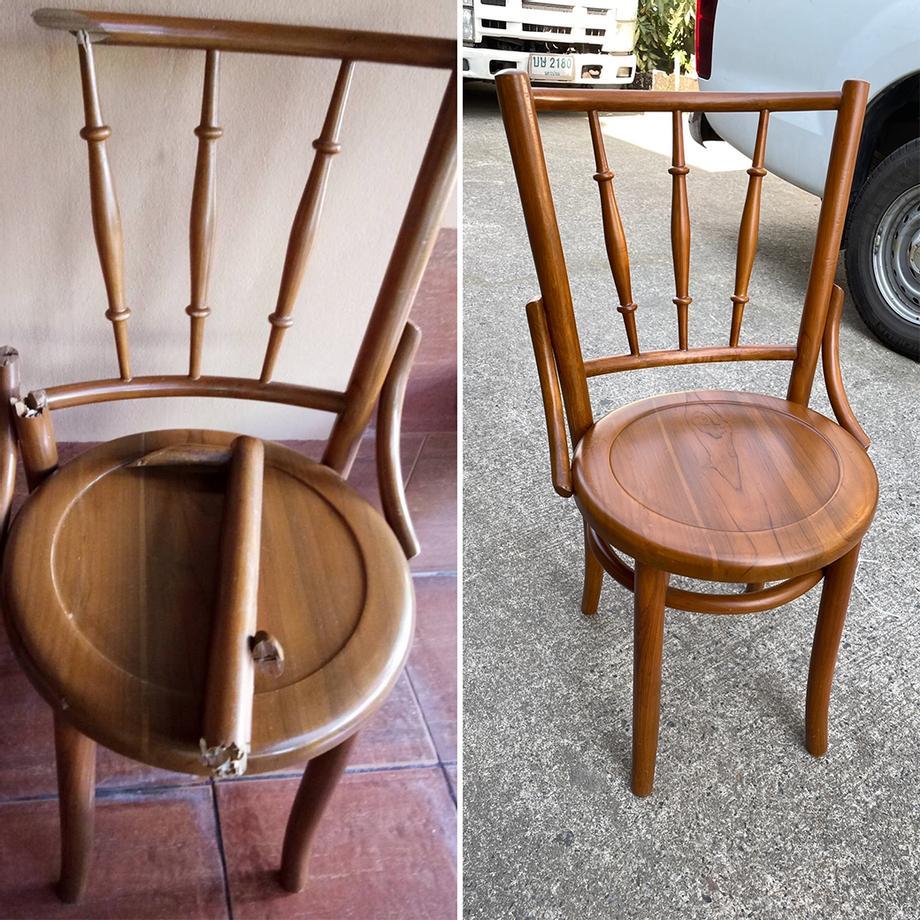 รับซ่อม เก้าอี้ไม้สัก